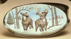 "Deer Oval Box 10""L"