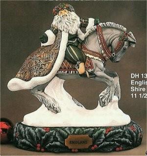 """English Santa on Shire Horse/base sold sep. 11.5""""L"""