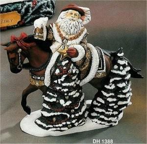 "German Santa on Trakehner Horse 11""L"