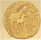 """Horse & Pony Plaque/Slab 11"""""""