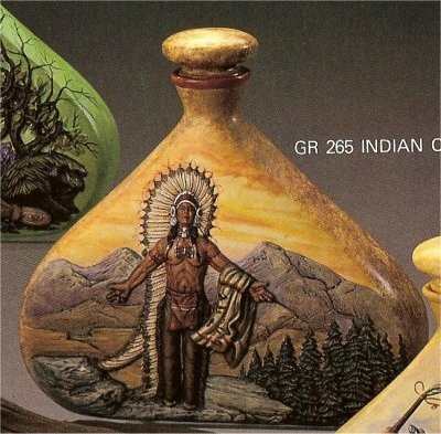 "Indian Chief Decanter 9""t"