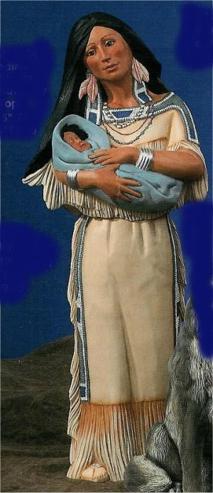 """DH Indian Princess w/Baby 34""""T"""