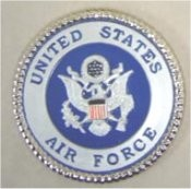 "Air Force Insignia 3 5/8"" D unpainted"