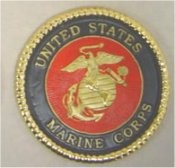 "Marine Insignia or Coaster 3 5/8"" D"