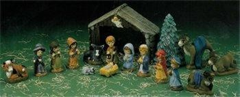 """DH Childs Nativity 4.5""""Tx6.5""""w"""
