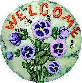 "Welcome Bee Slab/Plaque 11"""