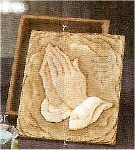 Bible Box Praying Hands 9.25x12""