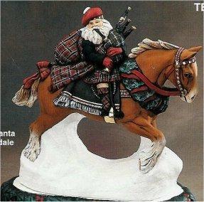 "Scottish Santa on Clydesdale 11""L"