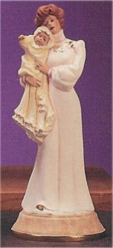 """Victorian Lady w/Baby 13""""T"""