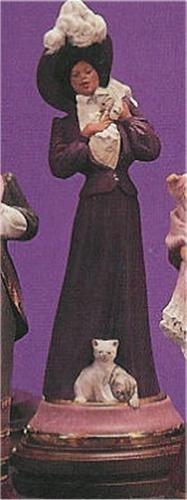 """Victorian Lady w/Kittens 14.5""""T"""