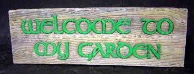 DH Welcome to My Garden Sign 11x3.5""