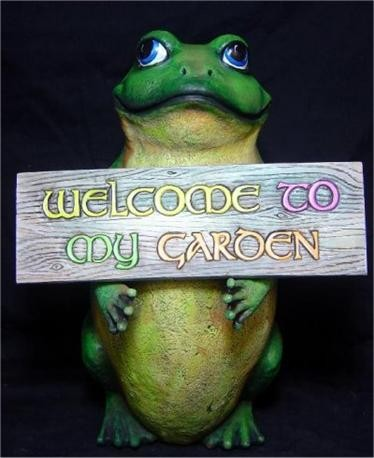 "Welcome to My Garden Frog & Sign17""t"
