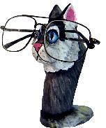 "Cat Eyeglass holder 6x4"""