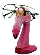 "Flamingo Eyeglass Holder 6.4"""