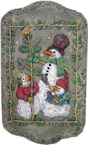 """DH Snowmen Plaque 12""""T"""