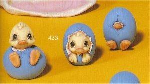 "Trio of Ducks Hatching 3.5""T"