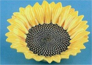"""Small Sunflower Bowl 6""""d"""