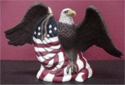 """Eagle w/Flag 7.5""""hx12""""w MK"""