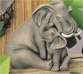 "Nurturing Elephants 10""T"