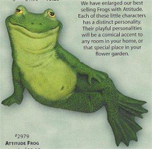 "Frog w/Hand on Knee 6"""