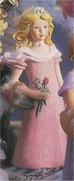 "Girl w/Daffodills 9.5""T"
