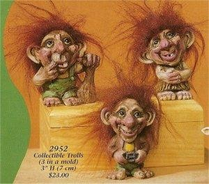 "Troll Trio 3""t  Hair Not Included"