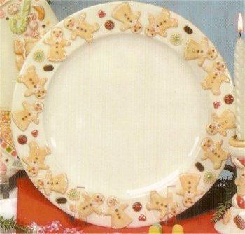 "Gingerbread Rnd. Platter 12""d"