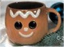 "Gingerbread Mug 5""D Unpainted"