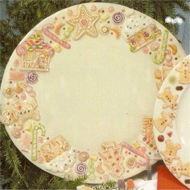 "Gingerbread Oval Platter 14""d"