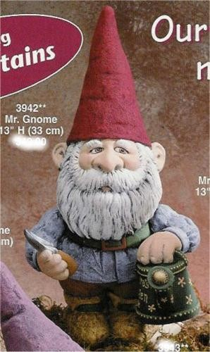 """Gnome w/Spade&Watering Can 13""""H"""