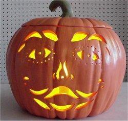 """Carved Smiley Pumpkin  9"""""""