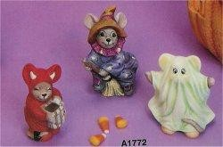 Mice Trick or Treaters Set