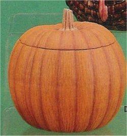 "Pumpkin w/Lid 6.25""t"