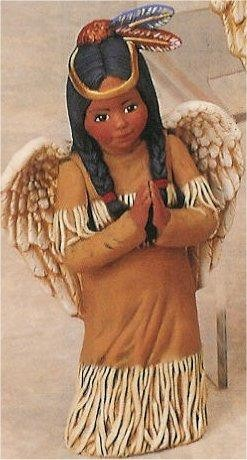 "Ind.Girl Angel Praying  9""t"