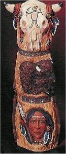 "Skull Totem Pole 10""t"