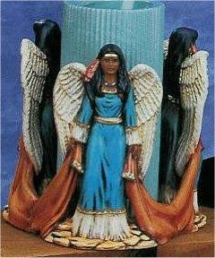 """Indian Angel Candle holder 6""""T candle Not Included"""