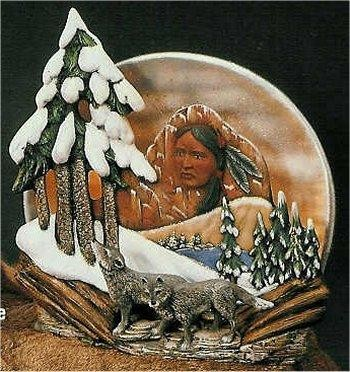 "Ind. Wolf Scene 11.5""T"