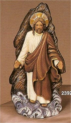 """Woodcarved Jesus on Water 10"""" t"""