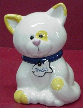 Kitty Treat Jar 7""