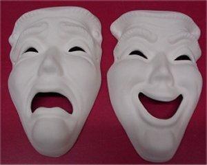 "Comedy Tragedy Masks 8x5"" Set"