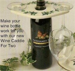 "Wine Caddie For Two 8.5x5.5"" Acc. not included"