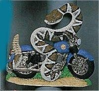 Motorcycle w/Snake 7x7.5""