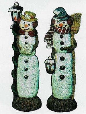 "Nowells Mr & Mrs Snowman Set 9""t"