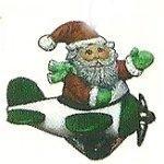 "Santa on Airplane Orn. 3"""