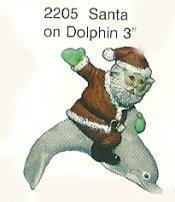 """Santa on Dolphin Orn. 3"""""""