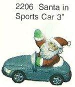 """Santa in Car Orn. 3"""""""