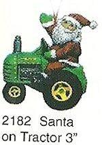 "Santa on Tractor Orn. 3""t"