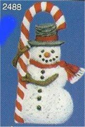 "Snowman w/Candycane Orn. 3""t"