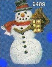 "Snowman w/Lantern Orn. 3""t"
