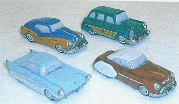 """Petro 1950's Car Set  3.25"""" L"""